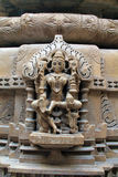Jain idol, carved in sandstone Royalty Free Stock Images