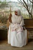 Jain nun in India Royalty Free Stock Image