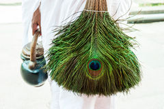 Jain peacock feather broom Stock Image