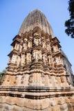 Jain tempel av Khajuraho Östlig grupp av tempel, Madhya Pra Royaltyfria Foton