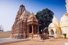 Jain tempel av Khajuraho Östlig grupp av tempel, Madhya Pra Fotografering för Bildbyråer