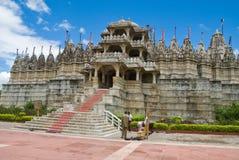 Jain Tempel bei Ranakpur Stockfotografie