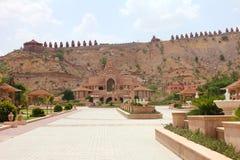 Jain tempel i ajmer Arkivfoto