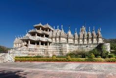 Jain tempel i Ranakpur, Indien Arkivfoto