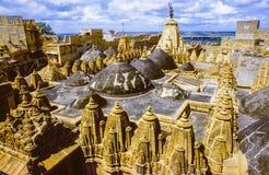 Jain Tempel in Jaisalmer Stockbild