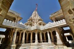 jain tempel Ranakpur Rajasthan india royaltyfria bilder