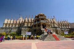 jain tempel Ranakpur Rajasthan india royaltyfri bild