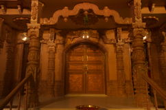 Jain temple entrance at night Stock Photography