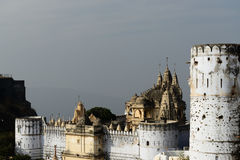 Jain temple in Palitana, India Royalty Free Stock Images