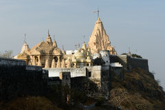 Jain temple in Palitana, India Stock Photo