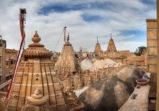Jain temples in Jaisalmer fort Royalty Free Stock Images