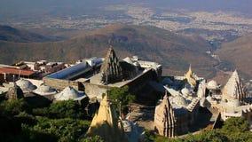 Jain temples in Junagadh stock video footage