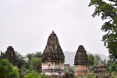 Jain temples at Polo Forest, Gujarat Royalty Free Stock Image