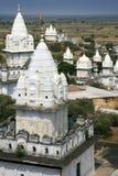 Jain Temples - Sonagiri - India. Sonagiri in the Bundelkhand area of the Madhya Pradesh region of India. There are 77 Jain temples at Sonagiri Stock Photography
