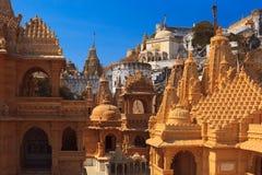 Jain temples on top of Shatrunjaya hill Royalty Free Stock Image