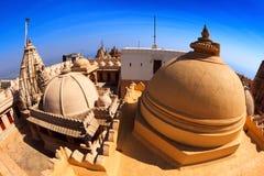 Jain temples on top of Shatrunjaya hill Stock Photography