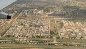 Jaipur Aerial View Stock Photography