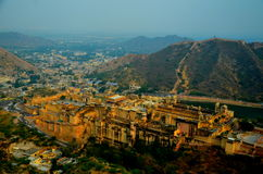 Jaipur ciry view. This is incredible city view of Jaipur, Rajasthan, India royalty free stock images