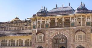 Jaipur City Palace Entrance - Arches Windows royalty free stock photo