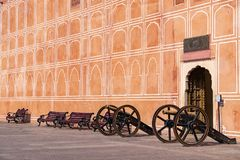 Jaipur city palace in Jaipur city, Rajasthan, India. Stock Photos
