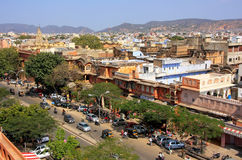 Jaipur city seen from Hawa Mahal, Rajasthan, India. Jaipur is the capital and the largest city of Rajasthan Royalty Free Stock Image