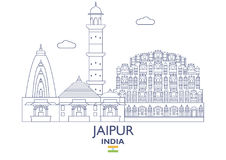 Jaipur City Skyline, India. Jaipur Linear City Skyline, India Royalty Free Stock Images