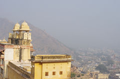 Jaipur city view from the Amber Fort Royalty Free Stock Photos
