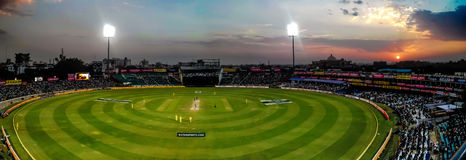 Jaipur Cricket Stadium. The cricket stadium in Jaipur during the One Day international between India and Australia Royalty Free Stock Photography