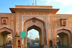 Jaipur, de Roze Stad in India Stock Foto's