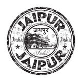 Jaipur grunge rubber stamp. Black grunge rubber stamp with the name of Jaipur city from India written inside the stamp Royalty Free Stock Photo