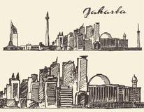 Jaipur illustration hand drawn sketch Stock Photos