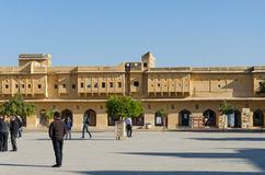 Jaipur, Inde - 29 décembre 2014 : Visite Amber Fort de personnes près de Jaipur Images libres de droits