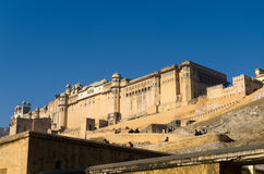 Jaipur, Inde - 29 décembre 2014 : Visite Amber Fort de touristes à Jaipur Photographie stock