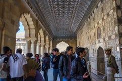 Jaipur, Inde - December29, 2014 : Visite de touristes Amber Fort à Jaipur Photo libre de droits