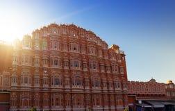 Jaipur, Inde Hawa Mahal ou palais des vents images libres de droits