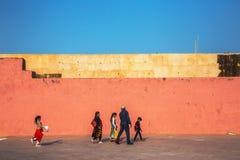 JAIPUR, INDE - 12 JANVIER 2018 : Amer Fort Fort ambre Images stock