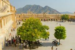 Jaipur, Inde, le 10 novembre 2011 : Vue pour se retrancher Amer Fort Images libres de droits
