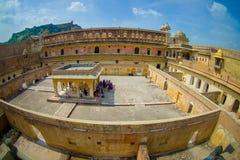 Jaipur, Inde - 20 septembre 2017 : La vue aérienne du palais d'Amber Fort, est l'attraction touristique principale dans la région Photos libres de droits