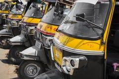 JAIPUR, INDE - 18 SEPTEMBRE 2017 : Pousse-pousse automatiques ou Photographie stock libre de droits