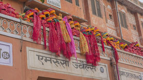 JAIPUR, INDIA – DEC 2017: Indian turbans on the street - a Tra Royalty Free Stock Image