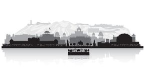 Jaipur India city skyline silhouette. Jaipur India city skyline vector silhouette illustration Stock Image