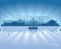 Jaipur India city skyline vector silhouette. Illustration Royalty Free Stock Photo