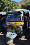 Jaipur, India - December 29, 2014:  Auto rickshaw taxis near Amber fort Stock Photos