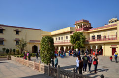 Jaipur, India - December 29, 2014: People visit Amber Fort in Jaipur Stock Images