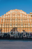 Jaipur, India - December 29, 2014: Unidentified tourists visit Hawa Mahal (Palace of winds) Royalty Free Stock Image