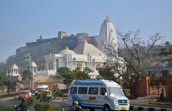 Jaipur, India - January 31, 2014: Birla Mandir is a Hindu temple in Jaipur, India Stock Photos