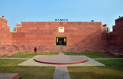 Jaipur, India - January 31, 2014: Indian People visit Jawahar Kala Kendra in Jaipur Royalty Free Stock Photos