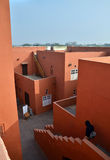 Jaipur, India - January 31, 2014: People visit Jawahar Kala Kendra in Jaipur Royalty Free Stock Photography
