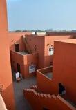 Jaipur, India - January 31, 2014: People visit Jawahar Kala Kendra in Jaipur Royalty Free Stock Photography