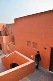 Jaipur, India - January 31, 2014: People visit Jawahar Kala Kendra Royalty Free Stock Image